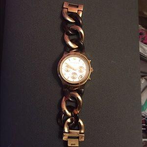Michael Kors Tortoiseshell Link Watch