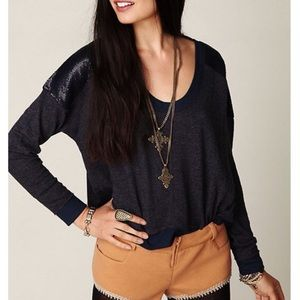 Free People Tops - NWT Free People Sequin Thermal Pullover