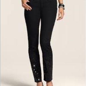 Chicos black sequins jeans