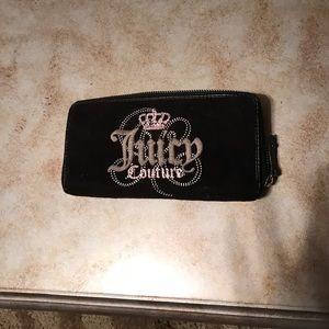 Black velvet Juicy Couture wallet