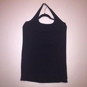 Carmakoma Tops - Stunning Black Halter-neck Tunic Length Top