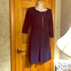 "Merona Navy Tunic/ Dress  ""Flattering Fit"" "