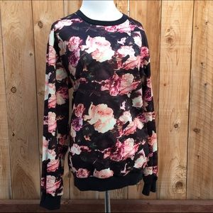 ZLyC Tops - Pink Roses Sweat Shirt