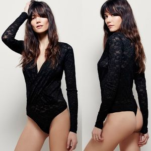 NWT Free People Lust for Lace Bodysuit
