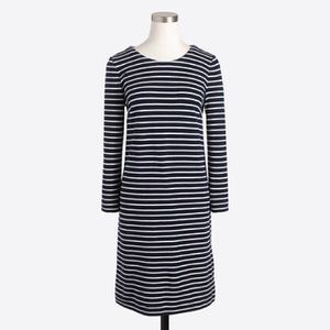 Striped maritime dress in navy/white