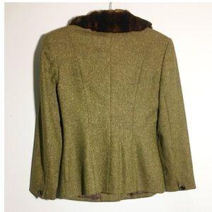 Vintage Jackets & Coats - Vintage Dana Buchman tweed fur collar blazer 4