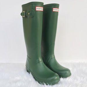 Hunter Shoes - Tall Green Original Hunter Boots