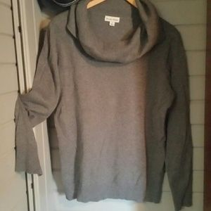 Sweaters - XL grey cowl neck sweater