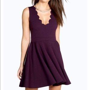 Scalloped Purple Dress