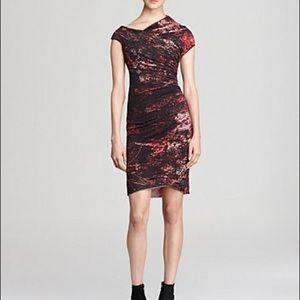 Helmut Lang Dresses & Skirts - HELMUT LANG MULTI MIDNIGHT FLORAL TWILL DRESS