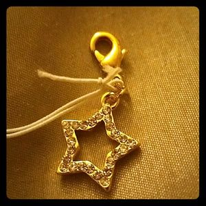 Gold Plated Charm w/ diamond pave