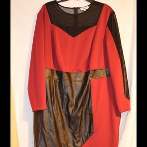 Monif C Faux Wrap dress
