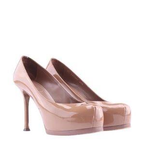 Yves Saint Laurent Shoes - Ysl tribtoo platform high heel. Dark Nude color.