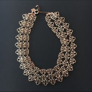 Rose Gold Fan-link Statement Necklace