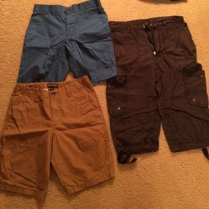 various Other - Bundle of 3 men's shorts, camel, blue and black