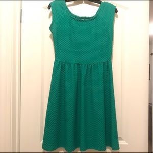 Xhilaration Kelly Green Textured Dress