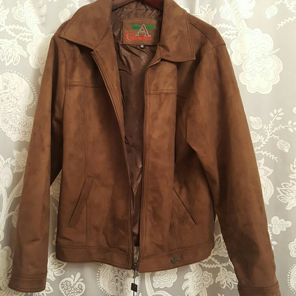 276008bb63c2 Armani Collezioni Jackets & Coats | New Wtags Brown Suede Jacket ...