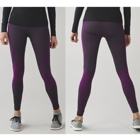 6922950dfd10af lululemon athletica Pants - Last call! Lululemon Purple and Gray Tights