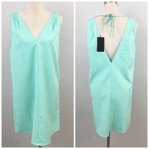 blaque label Dresses & Skirts - Blaque Label Turquoise V Back Shift Dress NWT