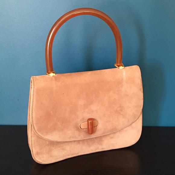 45fc298e5b6 Gucci Bags   Vintage Micro Suede Handbag W Lucite Handle   Poshmark