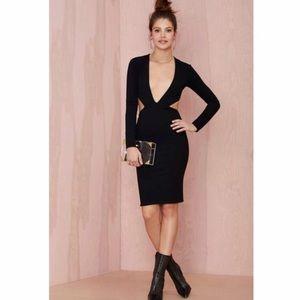 Solace London black cut out long sleeve dress