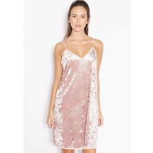NWT Mango pink velvet shift dress size large