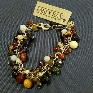Emily Ray Jewelry - New Sterling & Beaded Bracelet, Emily Ray