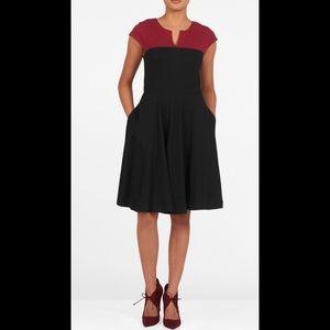eshakti Dresses & Skirts - New Eshakti Black Fit & Flare Dress XL 16
