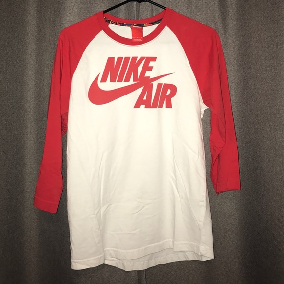 price reduced ever popular reliable quality Nike Shirts | Air Red White Baseball Style Tee Tshirt | Poshmark