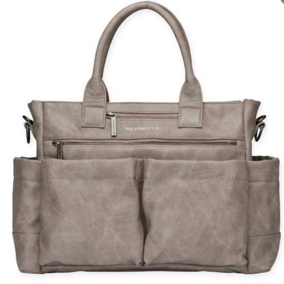 Honest company diaper bag tote in slate gray. M 5880314c6d64bc57650135fe aaec849d04d16