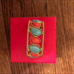 Lilly Pulitzer coral/Turq stone bracelet