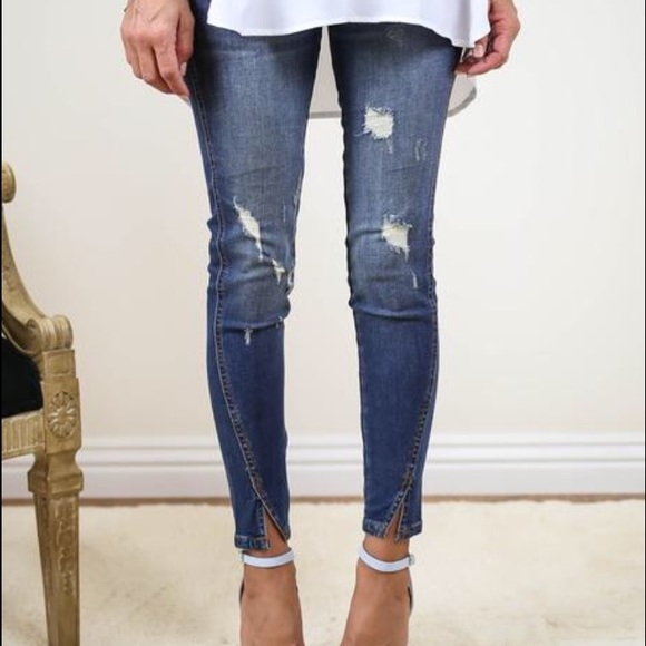 Vici Collection Denim - Vici Collection Split Ankle Denim