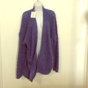 Moon Collection Sweaters - NWT fuzzy warm open pocketed sweater
