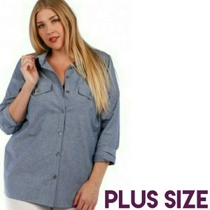 Boutique  Tops - ⚠BOGO FREE!⚠Button Down Chambray