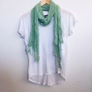 Hurley Accessories - ✌🏽️final price 💕Teal scarf and white tee combo.