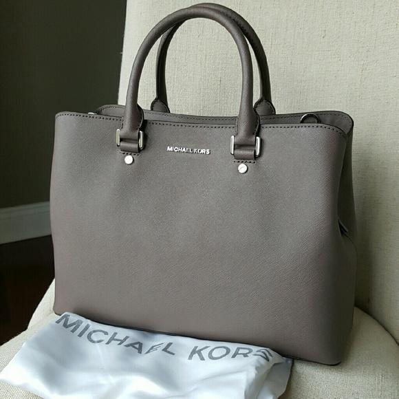 ff99d7ed167d45 Michael Kors Bags | Savannah Satchel Cinder Grey Bag Mk | Poshmark