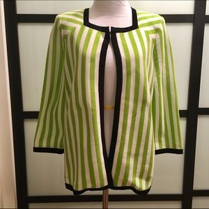 Misook Jackets & Blazers - Misook blazer NWOT- Lime green and white striped