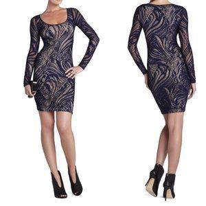 NWT BCBGMaxAzria Long-Sleeve Lace Dress
