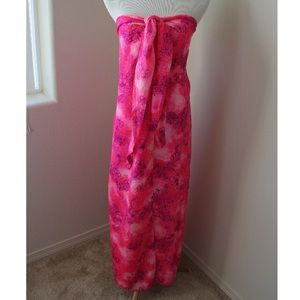 Accessories - Hot Pink Vintage Hawaiian Beach Wrap