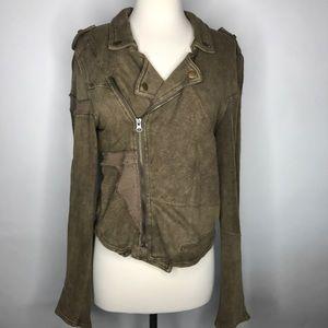 Free People Jackets & Blazers - We The Free Oversized Fleece Moto Jacket