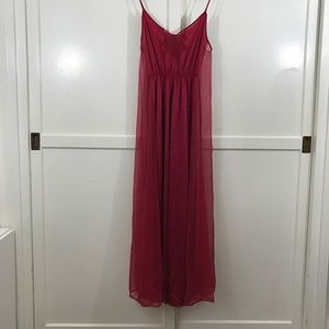Other - Vintage Red Maxi Slip Dress