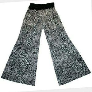 PJ Salvage Pants - PJ Salvage Rollover Waist Knit Lounge Pants
