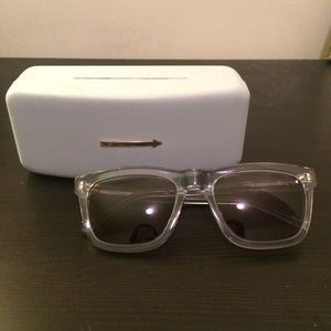 Karen Walker Accessories - Karen Walker Clear Wayfarer Sunglasses