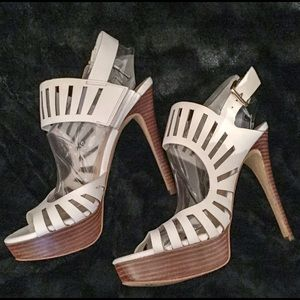 Guess Shoes - Guess White leather heels