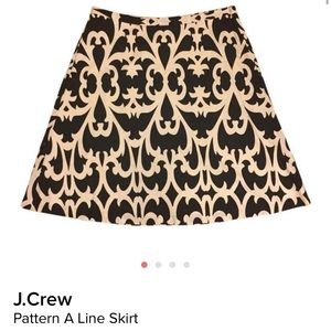 J. Crew Dresses & Skirts - J. Crew Black and White Pattern A Line Skirt