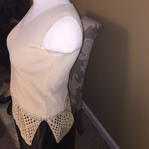 Joseph A. Vintage Sleeveless Embellished Blouse