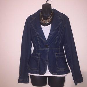 Cato's Jackets & Blazers - Cato's Blue Jean Blazer Medium