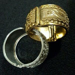 Accessories - Bangle Bracelets Silver & Gold Color