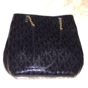 Michael Kors patent leather black purse