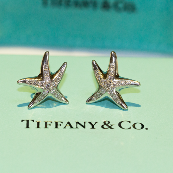27e59c880 Tiffany & Co. Jewelry | Diamond Platinum Elsa Peretti Starfish ...